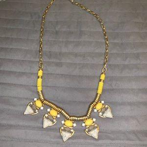 Stella & Dot yellow necklace